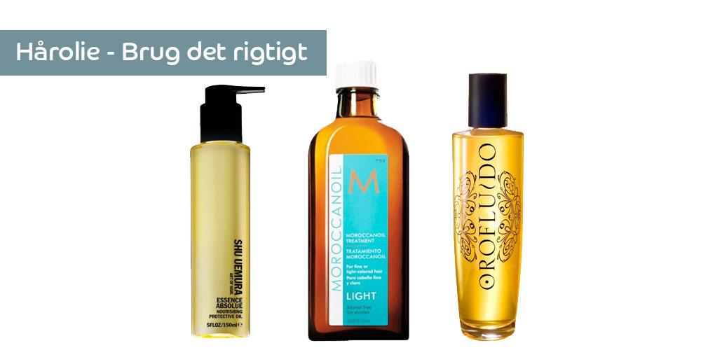 Hårolie - olie til håret - sådan bruger du det rigtigt
