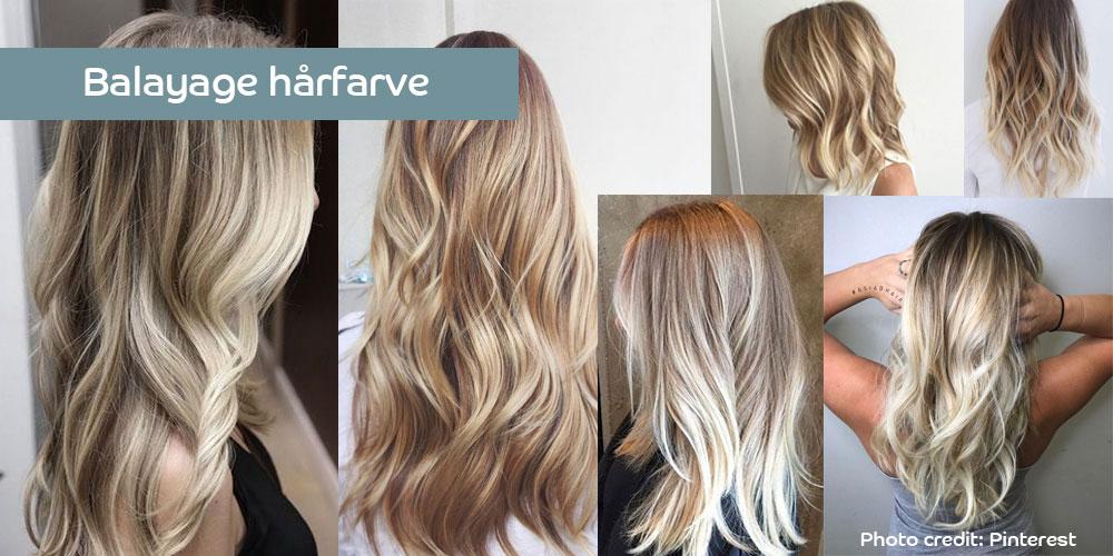 hårfarve med reflekser