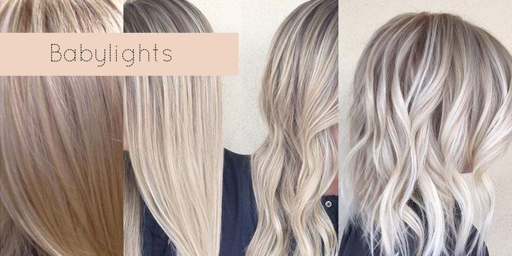 Lysning af håret: Babylights, lyse striber, reflekser eller afblegning