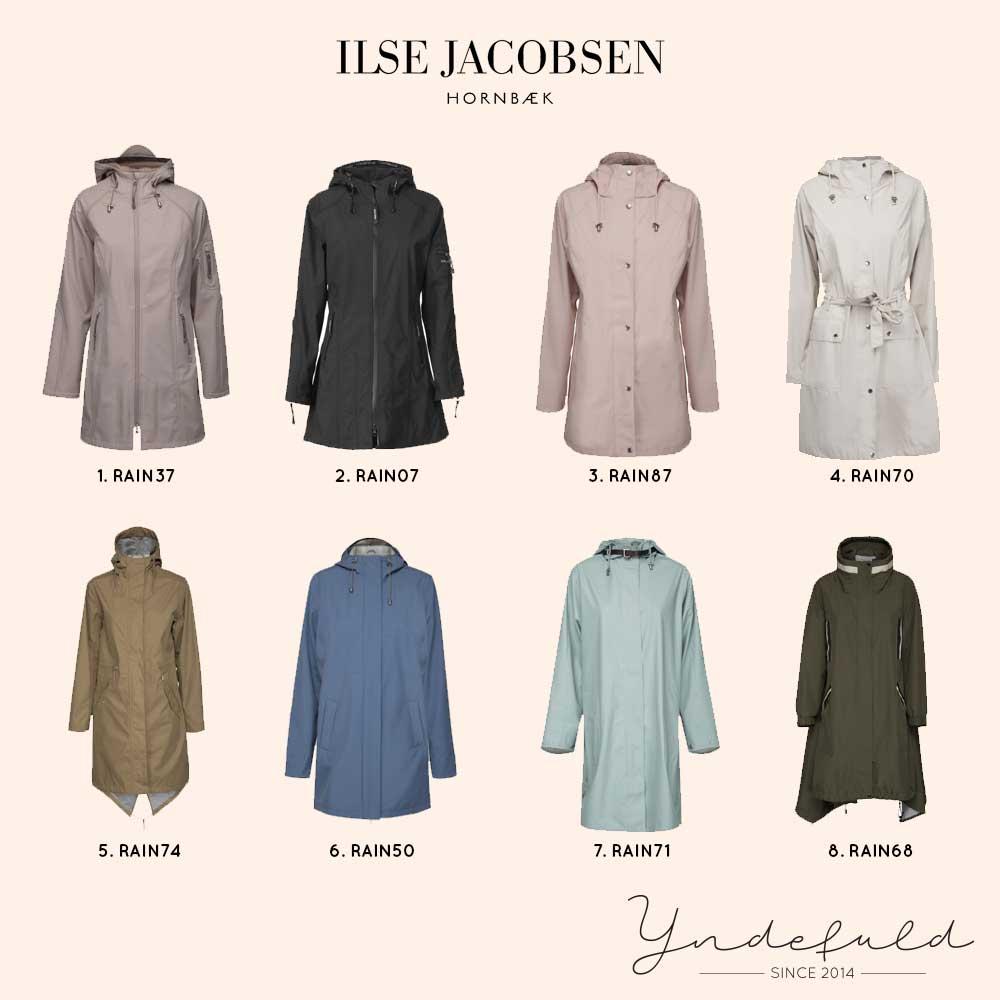 Regnjakke og regnfrakke fra Ilse Jacobsen - Smukkeste jakker