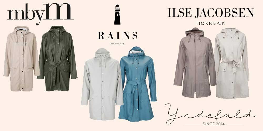 Regnjakke og regnfrakke til dame