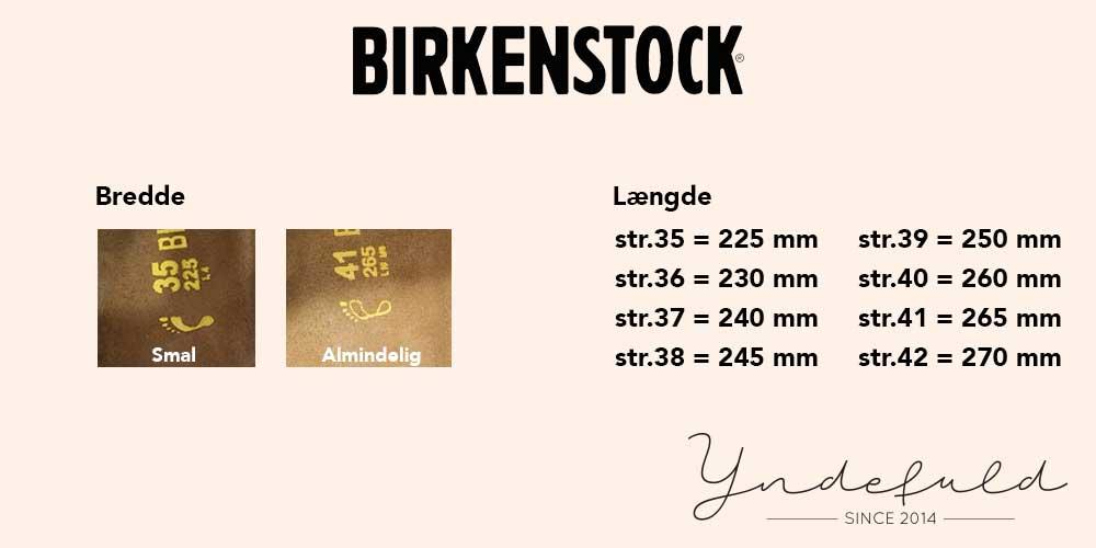 Birkenstock størrelser