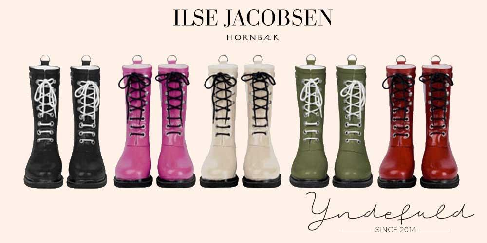 3/4 halvlange gummistøvler Ilse Jacobsen RUB15