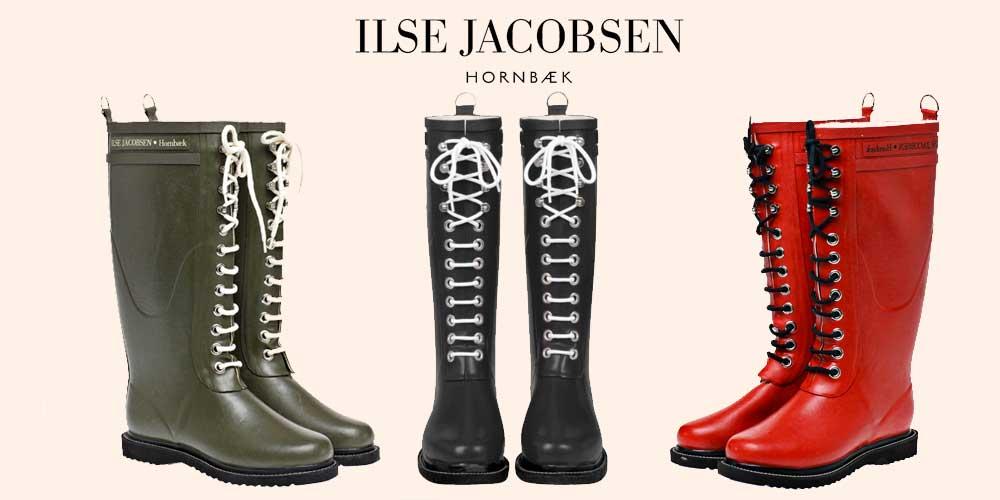 Lange gummistøvler fra Ilse Jacobsen RUB1