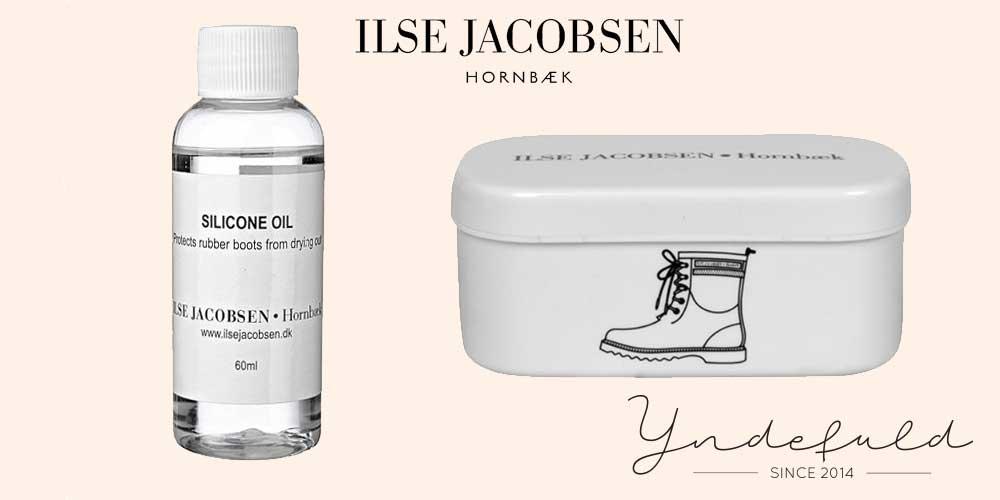 Olie og svamp- pleje til dine Ilse Jacobsen Gummistøvler
