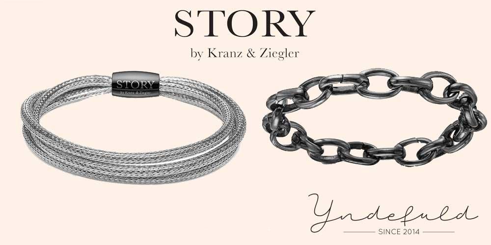Story sølvarmbånd og armbånd i stål