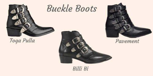 Støvler med spænder: Toga Pulla, Billi Bi, Pavement og ASOS